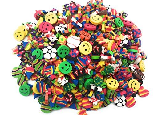 Oojami 500 Piece Mini Eraser Assortment School Teacher Supplies Classroom Stationary Party Favors