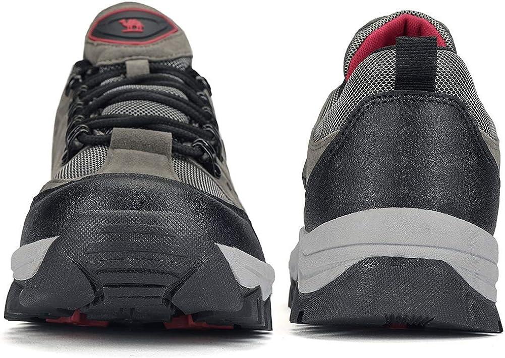 CAMEL CROWN Zapatos de Senderismo para Hombre Antideslizante Botas de Monta/ña Zapatos de Trekking Deportes Exterior Escalada Zapatillas de Acampada Zapato Seguridad Zapatos Trabajo