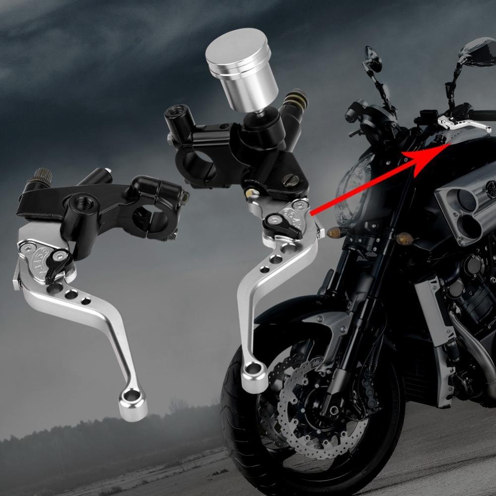 22mm Motorcycle Aluminum Alloy Adjustable Hydraulic Brake Pump Clutch Master Cylinder Hydraulic Rod Senyar Motorcycle Universal Brake Clutch Master Cylinder Red