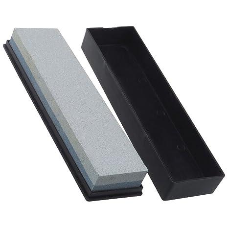 TekBox - Piedra de afilar cuchillos de doble cara, piedra con aceite, grano 120/240