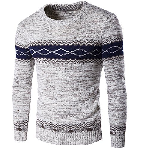2f1191588a6 Homme Pull Casual DéContracté LâChe Style Nationalité Pullover Tricot Slim  Pas Cher à La Mode Chic Chemisier Pin Up Tops Hiver Chaud Sweater   Amazon.fr  ...