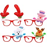 b0d135a0c041 CCINEE 4 Pieces Kids Novelty Christmas Fancy Dress Glasses For Party Costume  Bag fillers