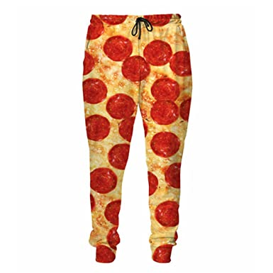 BCtechnology Pizza With Bacon Pepperoni Sweatpants 3D Printed Joggers Men/Women Plus Size Fall Style
