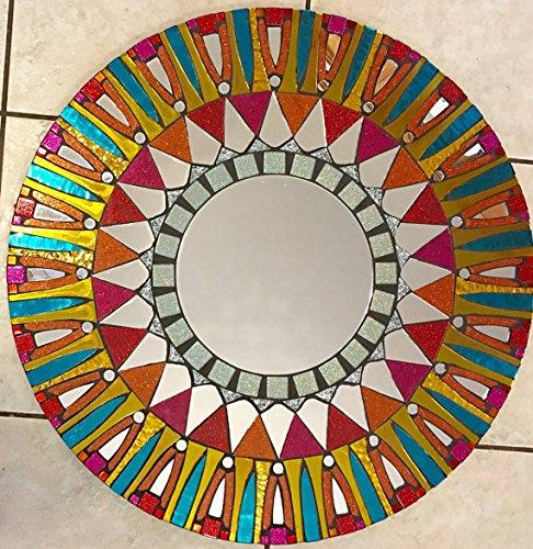 Handmade Mosaic Mirror by Artist Valerie ()