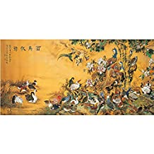 Vintage Chinese Birds Painting Poster Print Canvas Traditional Art Ancient Asian Phoenix Watercolor