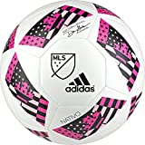 adidas Performance 2016 MLS Glider Soccer Ball, White/Shock Pink/Black, 5