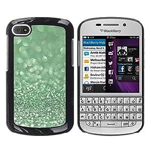 Caucho caso de Shell duro de la cubierta de accesorios de protección BY RAYDREAMMM - BlackBerry Q10 - Glitter Moss Winter Dew Diamond