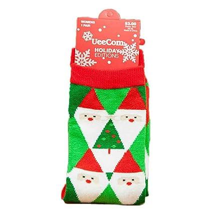 Calcetines de Navidad de algodón de invierno Copo de nieve Diseño de ciervos Calcetines de medias