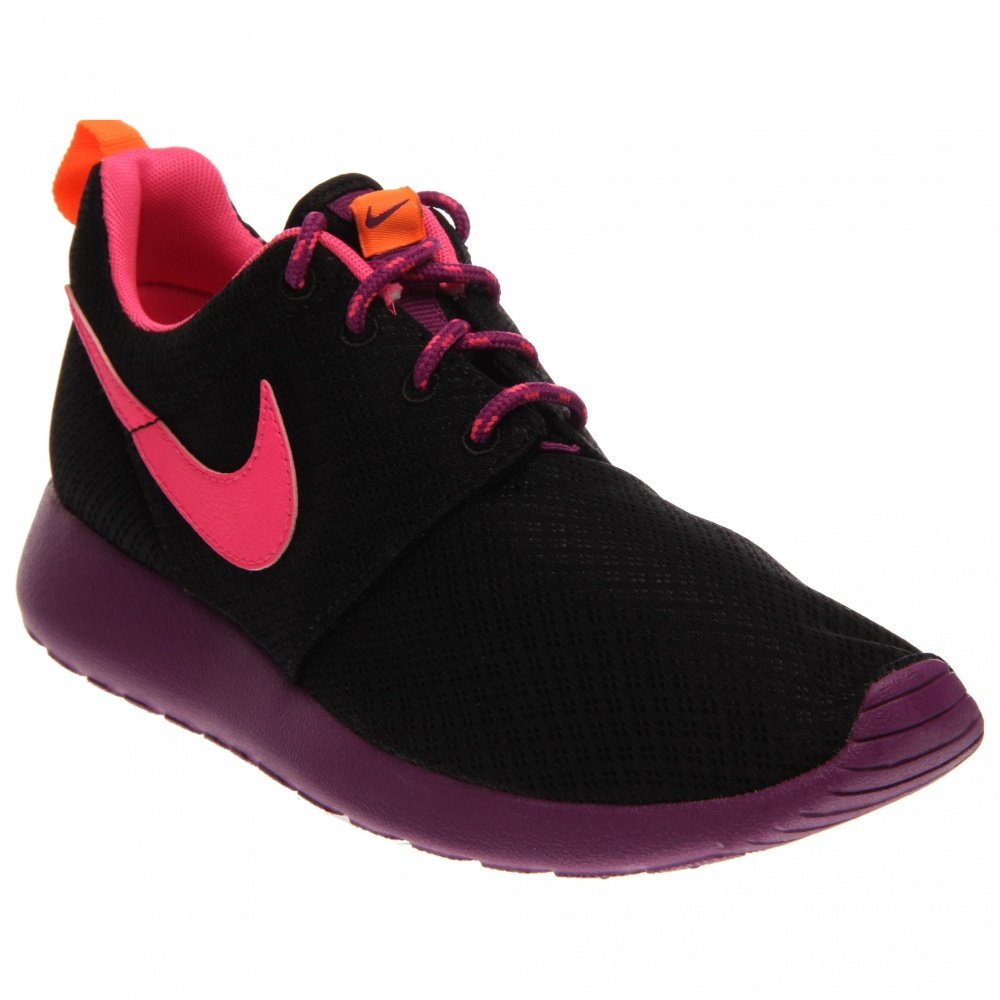 Nike Roshe Run 599729, Mauml;dchen Laufschuhe Training  40 EU|Black Purple