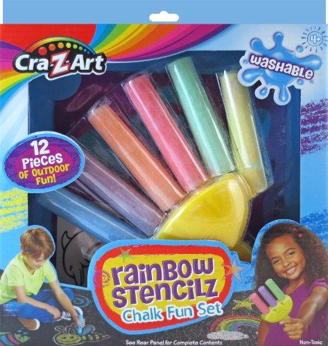 Cra Z Art Rainbow Stencilz Chalk Fun