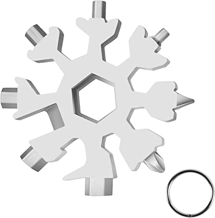 18-in-1 Stainless Steel Multi-Tool Outdoor Camping Snowflake Screwdriver Supply