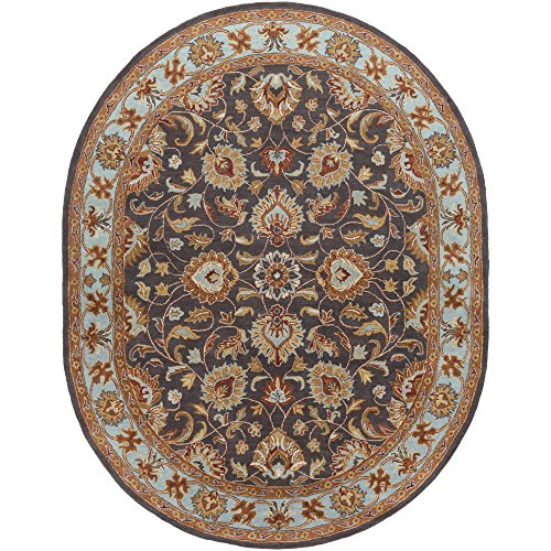 Surya CAE-1004 Caesar Charcoal 8-Feet by 10-Feet Oval Area Rug ()