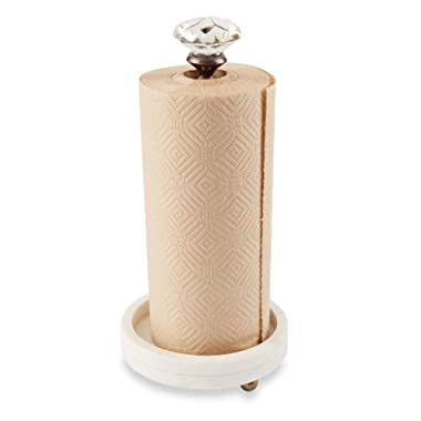 Mud Pie Circa Collection Glass Knob and Marble Paper Towel Holder