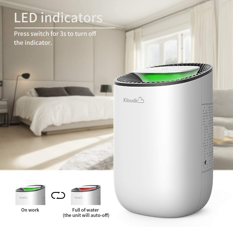 Luftentfeuchter, Elektrischer Entfeuchter 20ml Tragbarer Raumentfeuchter  Leise Luftreiniger für Schrank, Badezimmer, Keller, Schlafzimmer, Büro,