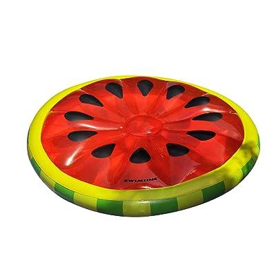 Swimline Watermelon Slice Island Inflatable Raft: Toys & Games
