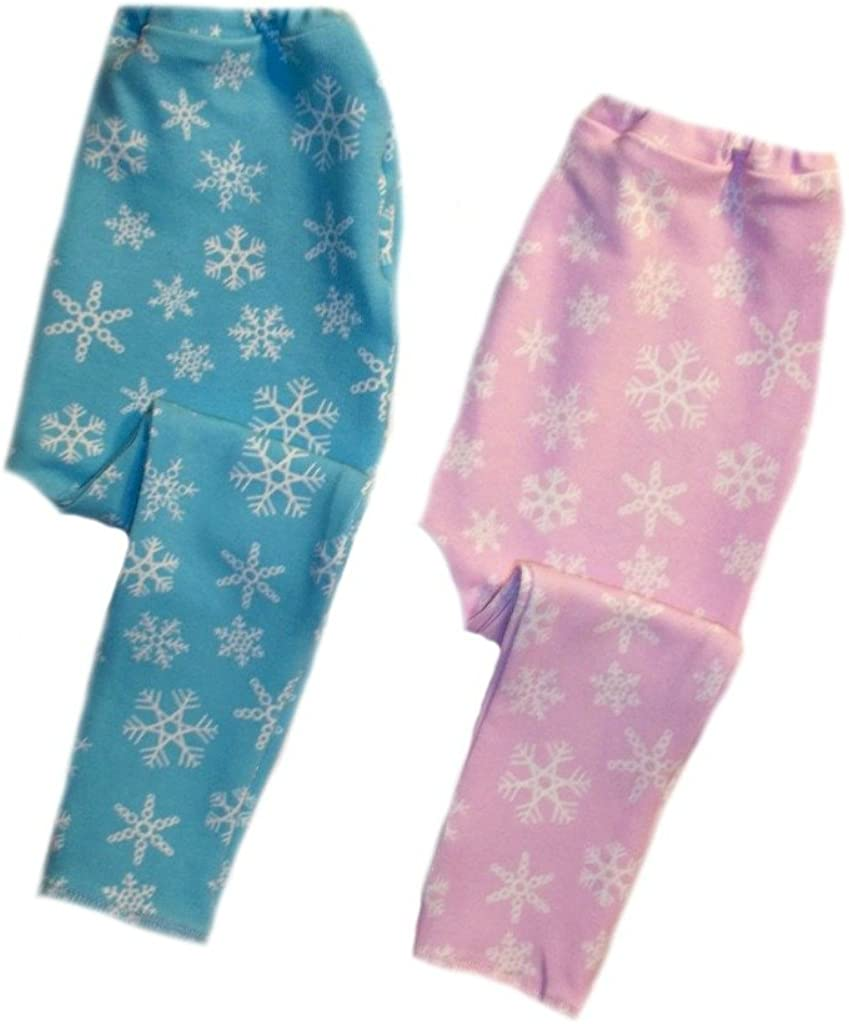 12-24 Months Jacquis Unisex Baby Pink and Blue Snowflake Winter Leggings