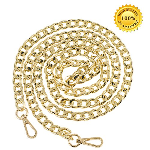 Myathle 10MM Width Iron Flat Chain Strap Handbags Replacement Chains for Wallet Clutch Satchel Tote Bag Length 39