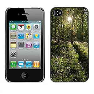 Exotic-Star ( Forrest Sun ) Fundas Cover Cubre Hard Case Cover para Apple iPhone 4 / 4S