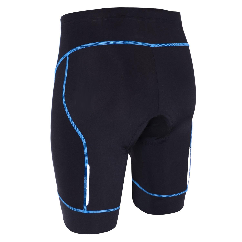 SKYSPER Mens Bike Shorts 3D Padded Cycling Shorts Biking Bicycle Half Pants Tights Anti-Slip Design Breathable