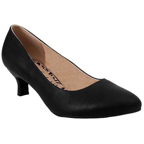 7e350be99472 MyShoeStore Comfort Plus® Ladies Kitten Heels Womens Flexi Sole Court Shoes  Pumps Wide E Fitting