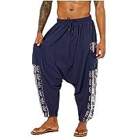 Pantalones harem unisex con bolsillo para hombre Pantalones