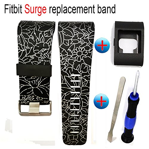 Budesi Silicone Accessory as Replacement Strap Band for Fitbit Surge Watch Fitness Tracker WatchBand Large