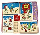 Hallmark Peanuts Christmas Holiday Greeting Cards with Glitter Accents 40 Count