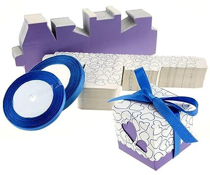 100 plantillas de cajas creativas de corazón, cartón, regalo para invitados de bodas,