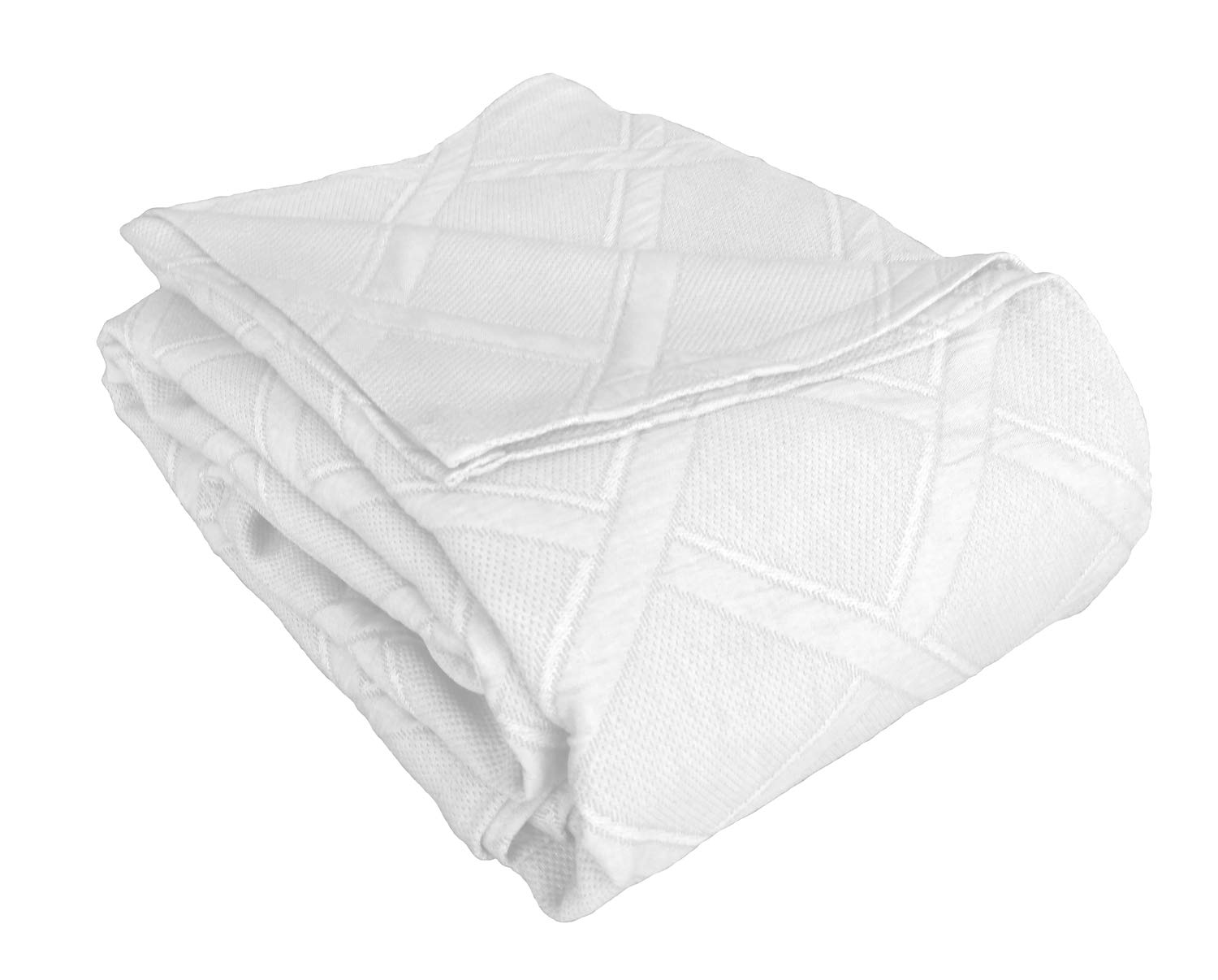 Europa Fine Linens Evora Matelasse Bedding, Coverlet Full/Queen Size 84-Inch by 96-Inch, White