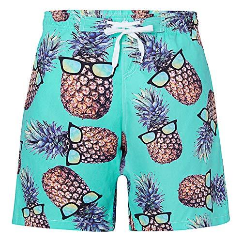 Boys Suit Bathing - UNICOMIDEA Boys Swim Trunks Bathing Suits Pineapple Swimsuits Summer Swimwear Beach Sports Short Waterproof Athletic Shorts with Pockets 8 Years