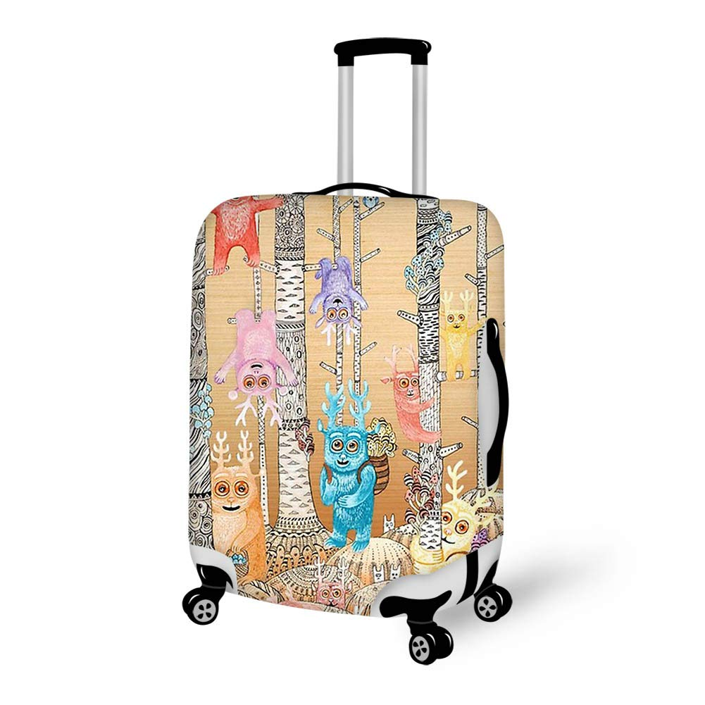 Luggage Cover Bugaboo Forest Cute Deer Birds Protective Travel Trunk Case Elastic Luggage Suitcase Protector Cover