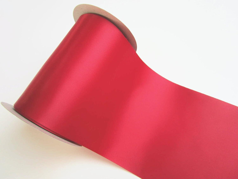 10 m x 10 cm nastro di raso Rosso scuro