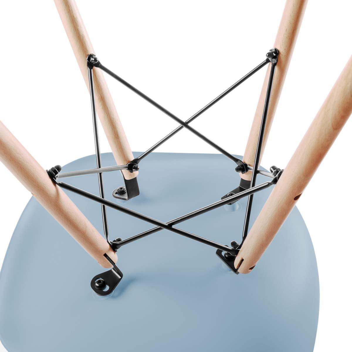 51x46x82 cm Haya y Polipropileno 2 Unidades McHaus Azul Claro Pack de Sillas de Comedor de Dise/ño N/órdico