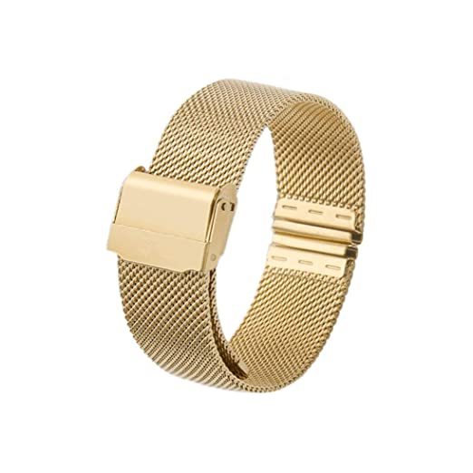 ... Banda de Reloj de Pulsera de Acero Inoxidable de Malla magnética de Acero Inoxidable Reloj de liberación rápida para Reloj DW HAHA: Amazon.es: Relojes