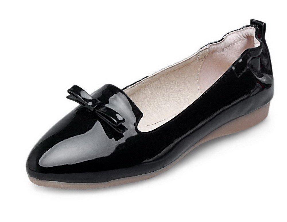 VogueZone009 Femme Couleur Unie Verni 19993 Non Talon Femme Pointu Tire Noir Chaussures à Plat Noir 0bcc37b - reprogrammed.space