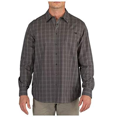 5.11 Tactical Men's Echo Long Sleeve Shirt, Regular Fit, Cotton/Polyester, RAPIDraw Placket, Style 72494 at Amazon Men's Clothing store