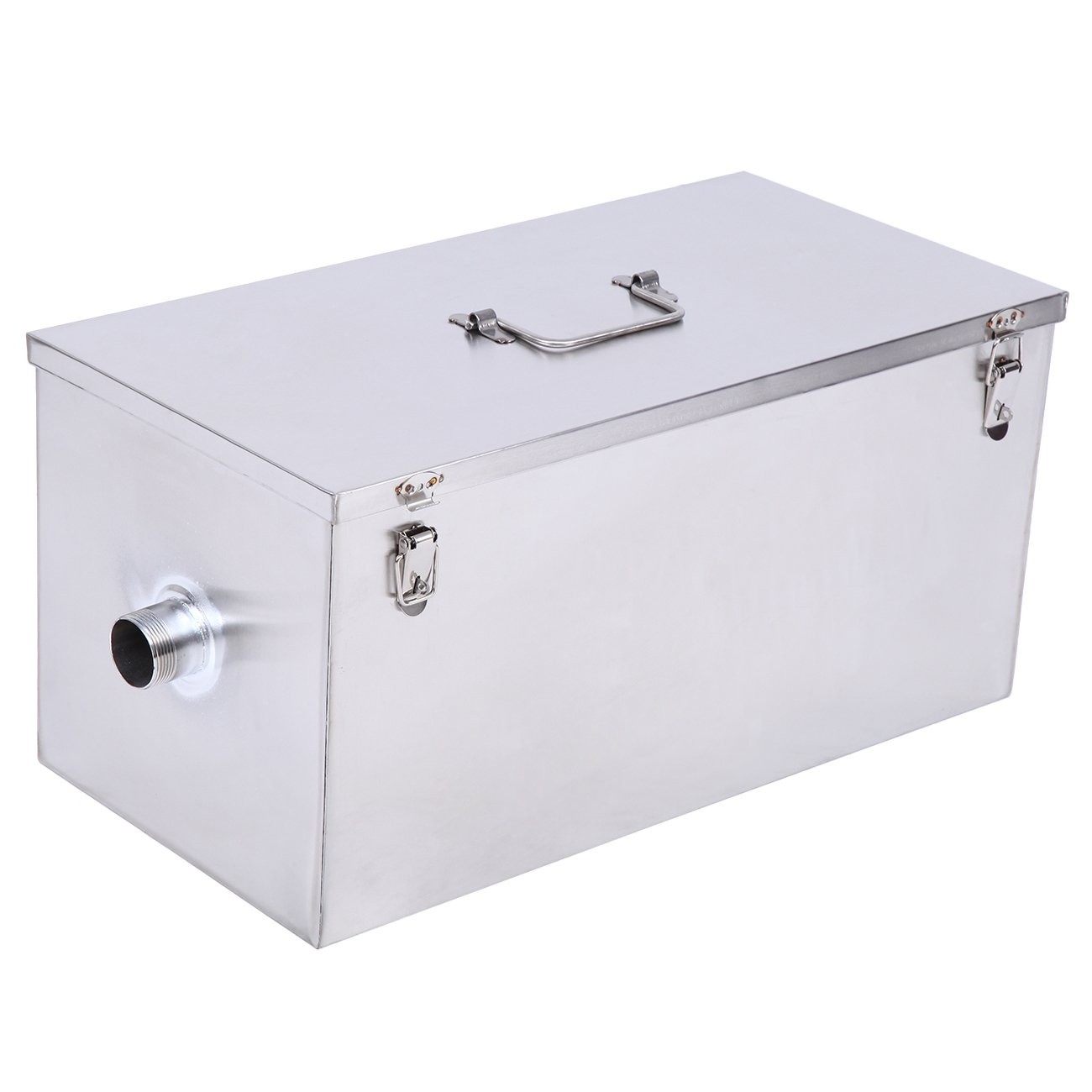 XuanYue Commercial Grease Trap 25 LB 13GPM Gallon Per Minute Stainless Steel Grease Interceptor Kitchen Kit for Restaurant Factory and Home