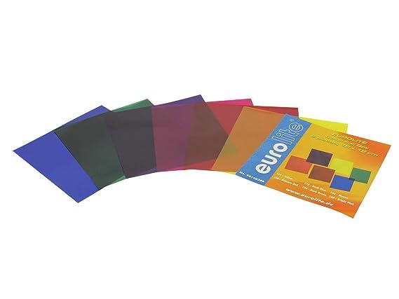 Farbfolienset 19x19cm PAR-56 sechs Farben: Amazon.de: Musikinstrumente