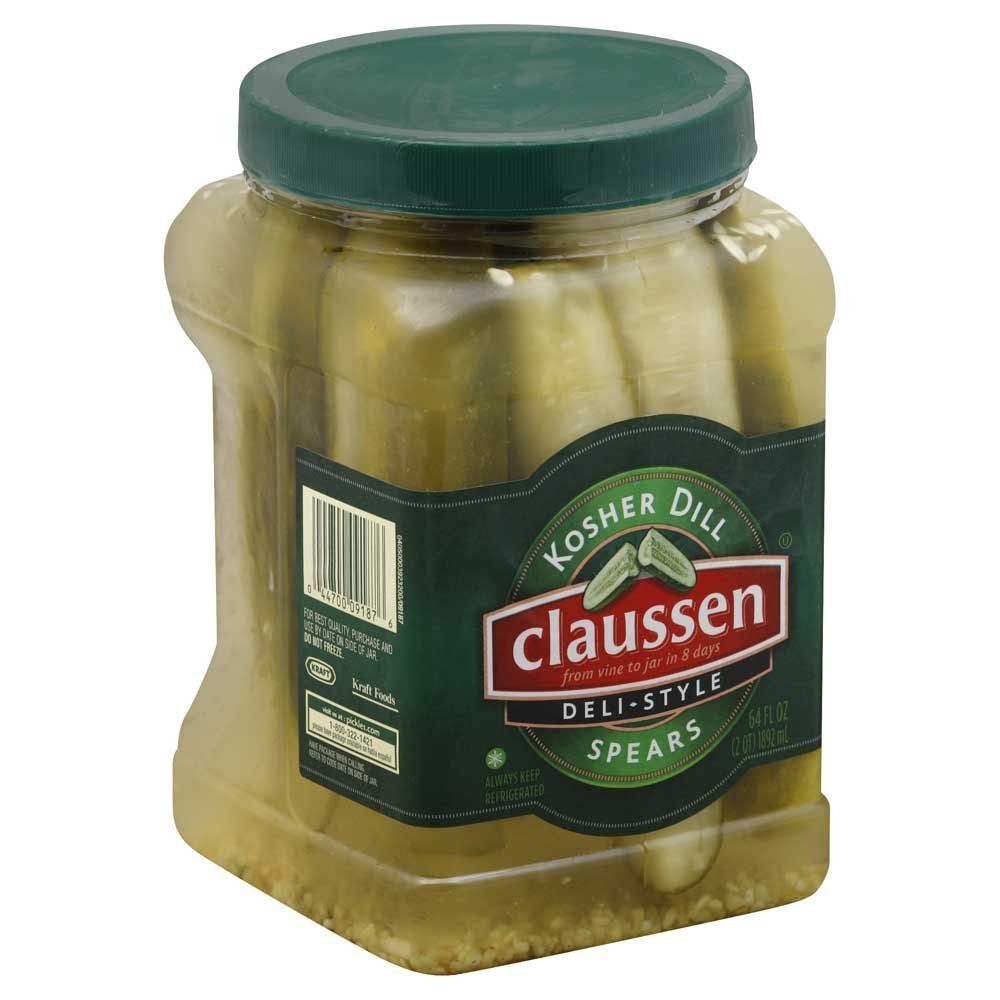 Claussen Kosher Dill Natural Spears Pickle, 64 Ounce -- 6 per case.