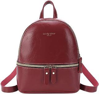 Allywit Backpack - Girls Mini Backpack Leather Purse Women Backpack Leather Cross Body Bag