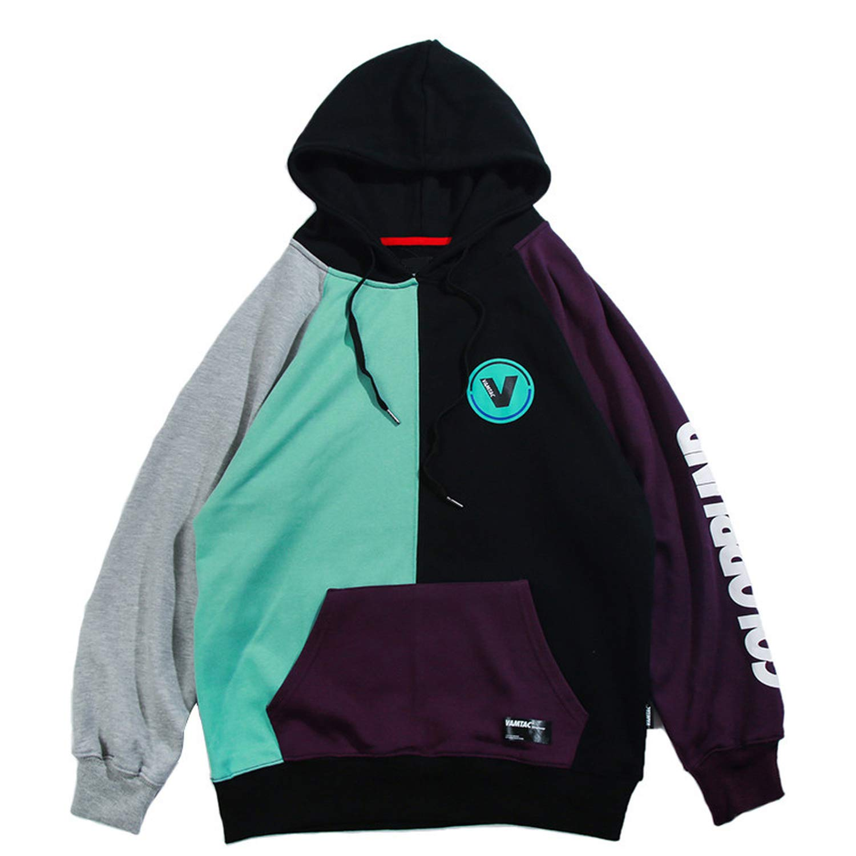 Amazon.com: MERRYDAY Men Hip Hop Color Block Patchwork Harajuku Hoodie Streetwear Casual Baggy Pullover Oversized Hoodies: Clothing