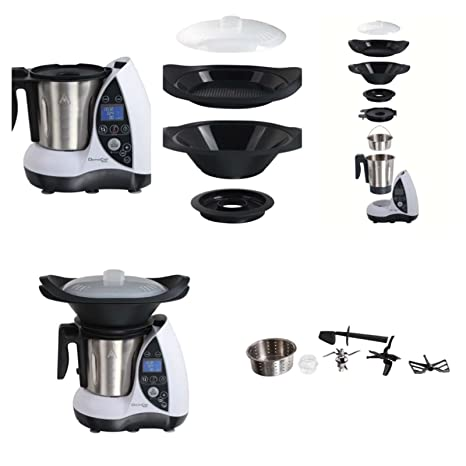Robot da cucina multifunzione con funzione di cottura, 1500 Watt ...