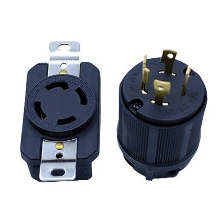 Excellent Amazon Com Flypig Generator Rv Ac Plug Socket L14 30 30 Amp 120V Wiring Digital Resources Ntnesshebarightsorg