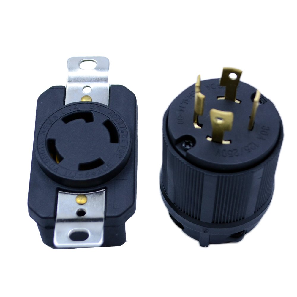 FLYPIG GENERATOR RV AC PLUG & SOCKET L14-30 30 AMP 120V 220V MALE & FEMALE RECEPTACLE