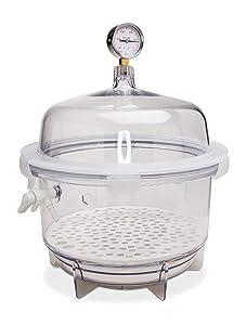 Bel-Art Lab Companion Clear Polycarbonate Round Style Vacuum Desiccator; 20 Liter (F42400-2221)