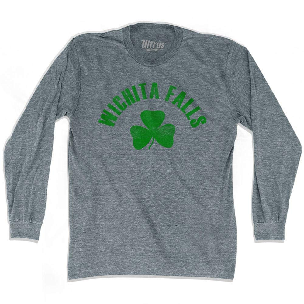 Wichita Falls City Shamrock Tri-Blend Long Sleeve T-Shirt