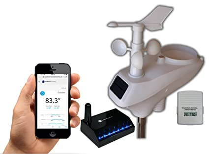 Ambient Weather WS-1401-IP Observer Solar Powered Wireless Internet Remote Monitoring Weather Station with Solar Radiation and UV, Compatible with ...