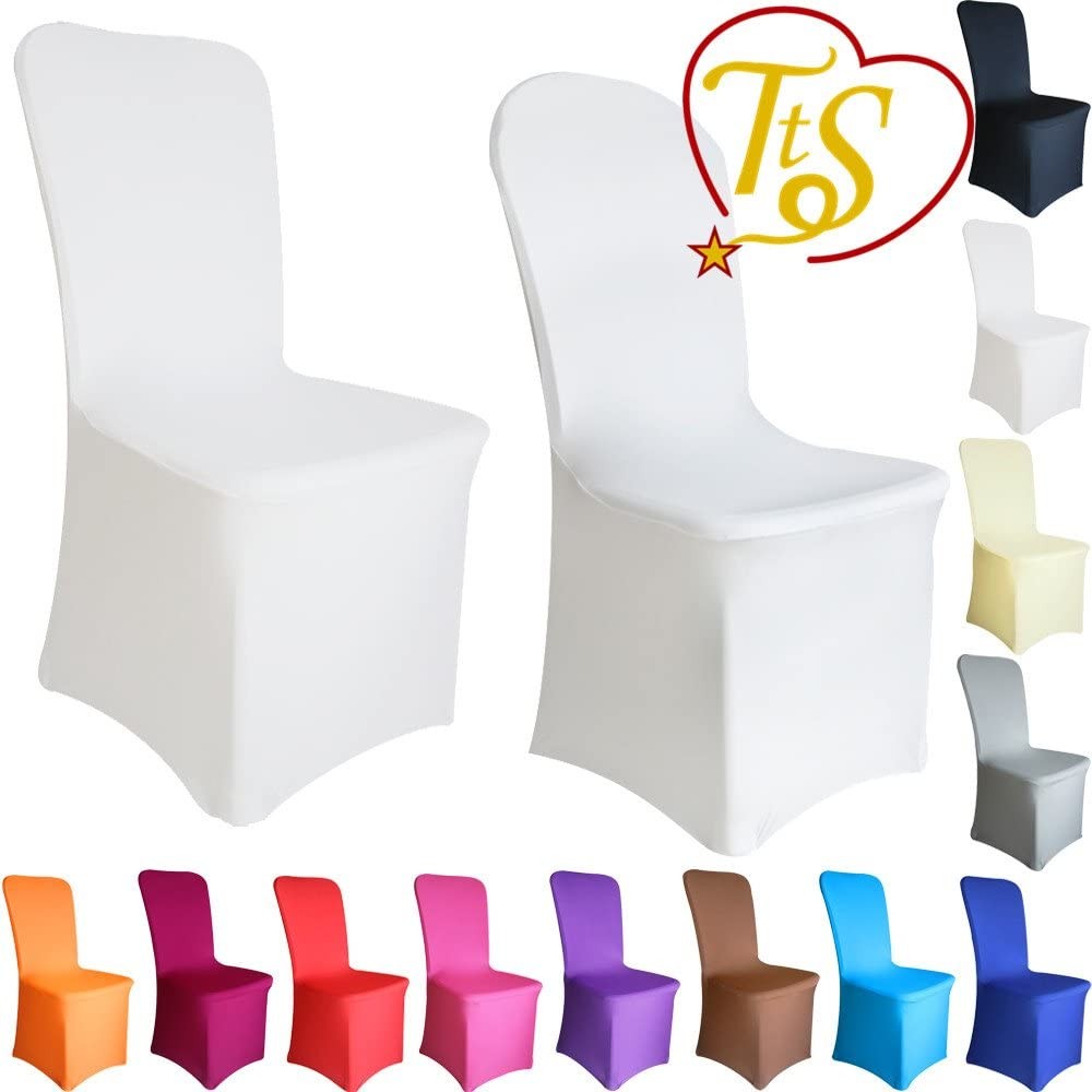 1 4 10 50 100 Housse de chaise Spandex Blanc Elastique Mariage Fête
