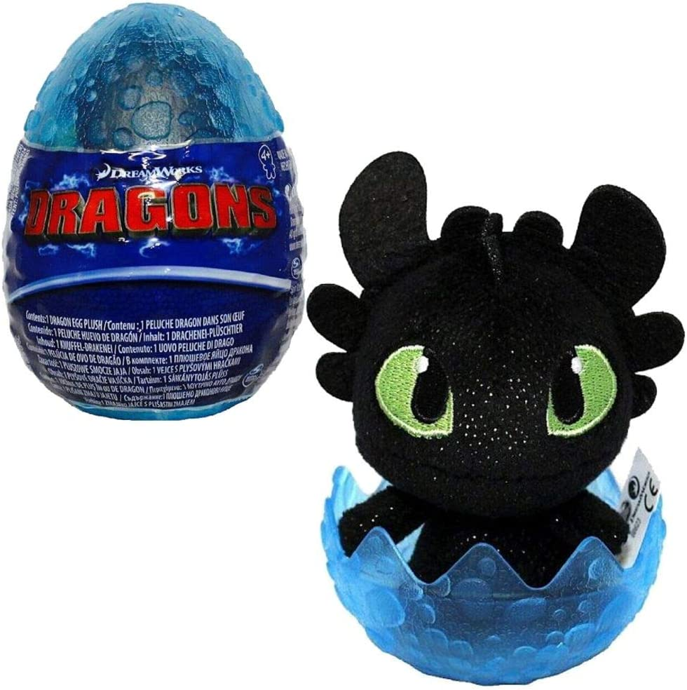 "How to Train Your Dragon Mystery Egg Baby Soft 3/"" Bleu Toothless Mark"