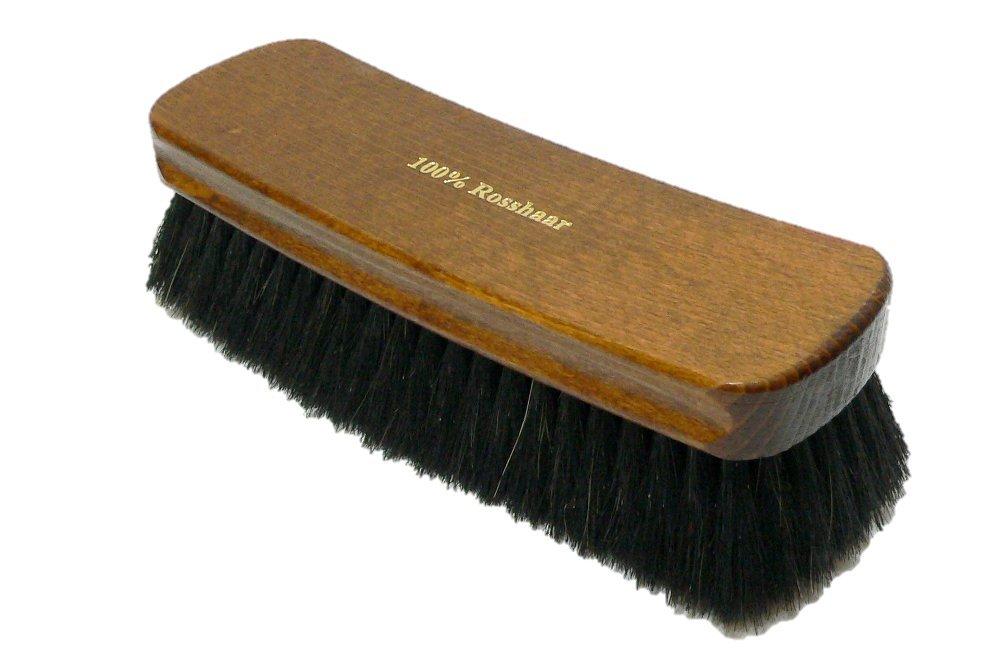 Valentino Garemi Shoe Polishing Brush | Luxury Shining Brush | Genuine HorseHair | Made in Germany | Dark Hair